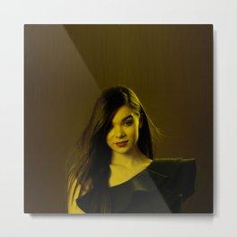 Hayley Steinfeld - Celebrity (Florescent Color Technique) Metal Print