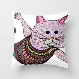 Mer-Kat Meow Throw Pillow