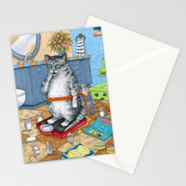 Overweight cat Stationery Cards