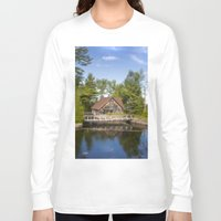michigan Long Sleeve T-shirts featuring Michigan Cottage by davehare