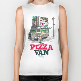 "Javier Arres T-shirt/camiseta ""The Pizza Van"" Biker Tank"