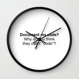 Document my code Wall Clock