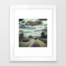Driving on the Autobahn Framed Art Print