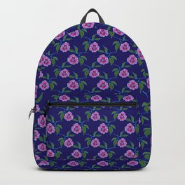 Peony Floral Floating Pattern Backpack
