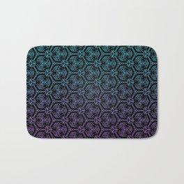 chain link - blue and purple mandala pattern Bath Mat