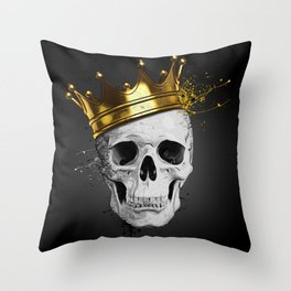 Royal Skull Throw Pillow