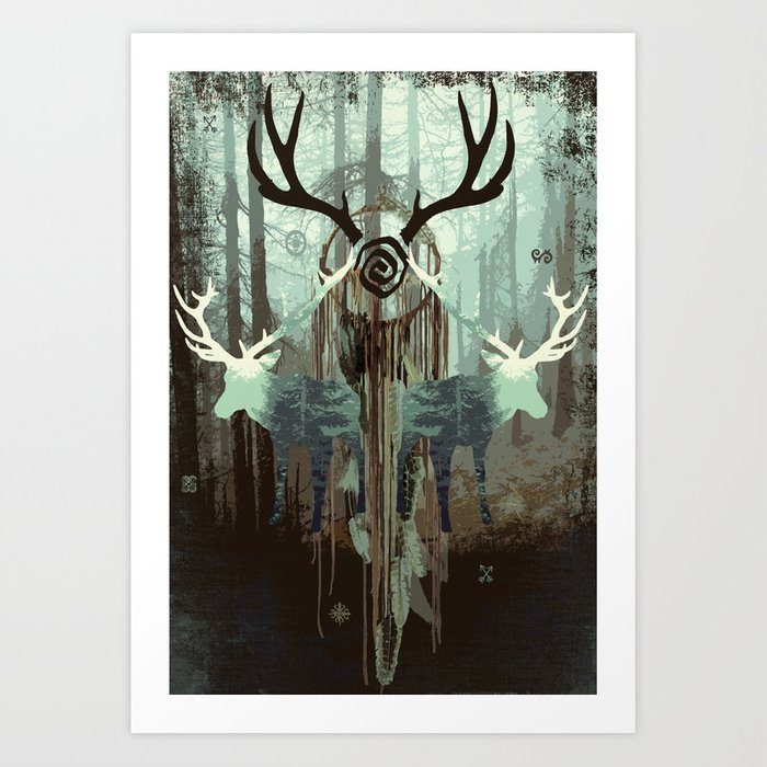 The forest spirits Art Print
