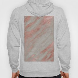Smooth rose gold on gray marble Hoody