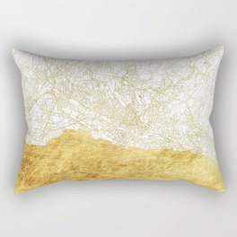 Lausanne Map Gold Rectangular Pillow