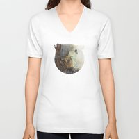 illusion V-neck T-shirts featuring Illusion by Dariane