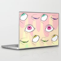 neon Laptop & iPad Skins featuring Neon by Pastel Starbombs