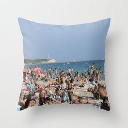 Beach Time Throw Pillow