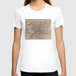 Vintage Map of Rome Italy (1730) T-shirt