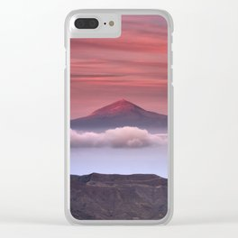 Volcano Teide 3.718 Meters. Last Light Of The Day Clear iPhone Case