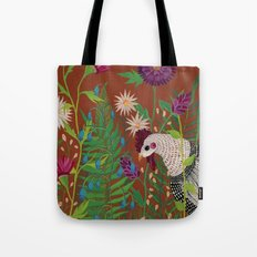 Chicken in the Garden Tote Bag