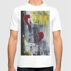 remember love 1 White MEDIUM Mens Fitted Tee