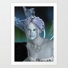 Fantasy Snow Fairy Art Print