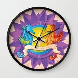 Cavalos Marinhos (Seahorses) Wall Clock