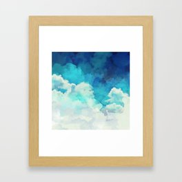 Absract Watercolor Clouds Framed Art Print
