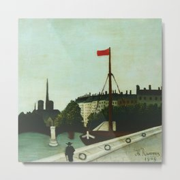 """Henri Rousseau """"Notre Dame"""" Metal Print"""