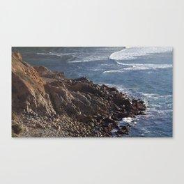 Palos Verdes California shore line Canvas Print