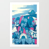 eternal sunshine of the spotless mind Art Prints featuring Eternal Sunshine of the Spotless Mind by Ale Giorgini
