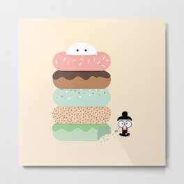 Donut Munch Metal Print