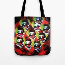 Halloween Horrorclown Collage Tote Bag