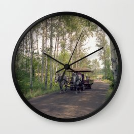 Raid Canada: Deux Chevaux at Fort William Wall Clock