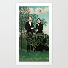 The Past and the Present, or Philosophical Thought - Henri Rousseau Art Print
