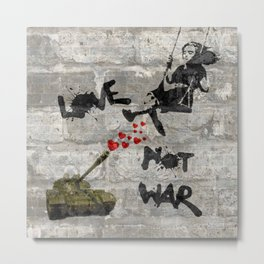 Love Not War Metal Print