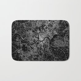 Cincinnati map Bath Mat