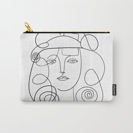 Picasso Line Art - Woman's Head #2 Carry-All Pouch