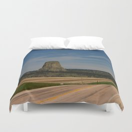 Road To Devils Tower Duvet Cover