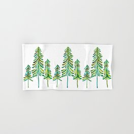 Pine Trees – Green Palette Hand & Bath Towel