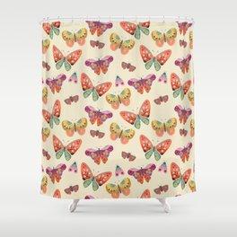Botanical Butterflies Shower Curtain
