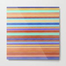 Tropical Stripes Metal Print