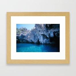 NATURE'S WONDER #5 - BLUE GROTTO (Turkey) #2 #art #society6 Framed Art Print