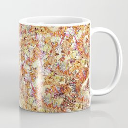 Modern orange faux gold glitter abstract pattern Coffee Mug