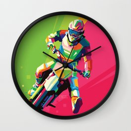 Motocross Top-notch WPAP #2 Wall Clock