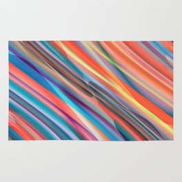 multicolored lines  Rug