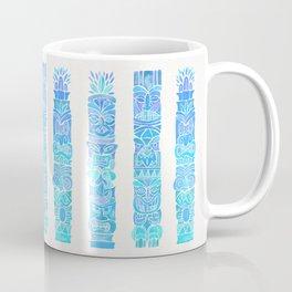 Tiki Totems – Turquoise Palette Coffee Mug