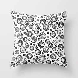Sketchy Balls Pattern Throw Pillow