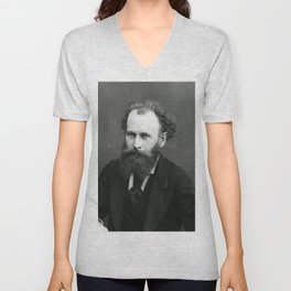 Portrait of Manet by Nadar Unisex V-Neck