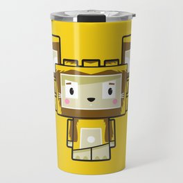 Cute Cartoon Blockimals Lion Travel Mug