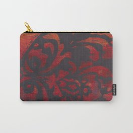 Flame Damask Carry-All Pouch