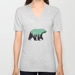 Bear Landscape Unisex V-Neck