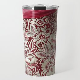 Christmas stocking in petrykivka style Travel Mug