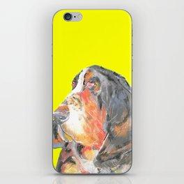 Basset Hound , Jiri Bures original art and design iPhone Skin