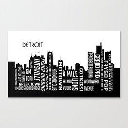 Skyline Detroit Canvas Print